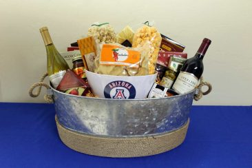 A welcome gift basket to Stewart Title from Synergy Plaza.
